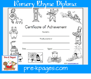 nursery rhyme award