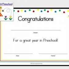 Preschool Certificate Button