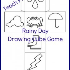 Rainy Day Drawing Cube | Preschool Spot