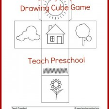 Sunny day drawing cube game | Free Printable