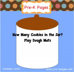 Cookie Jar Play Dough Counting Mats