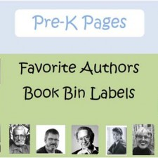 Favorite Authors Printable Book Bin Labels