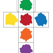 Paint Cube from Teach Preschool