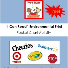Environmental Print Pocket Chart Activity