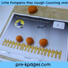 5 Little Pumpkins Play Dough Mats