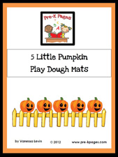 Free Printable 5 Little Pumpkin Counting Mats via www.preschoolspot.com