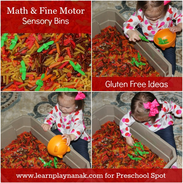 Math and Fine Motor Sensory Bins