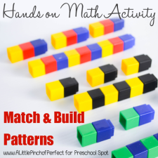 Match and Build Patterns Activity with Unifix Cubes
