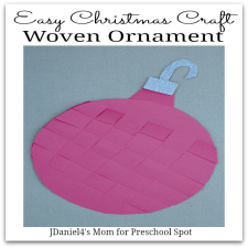 Easy Christmas Craft- Woven Ornament