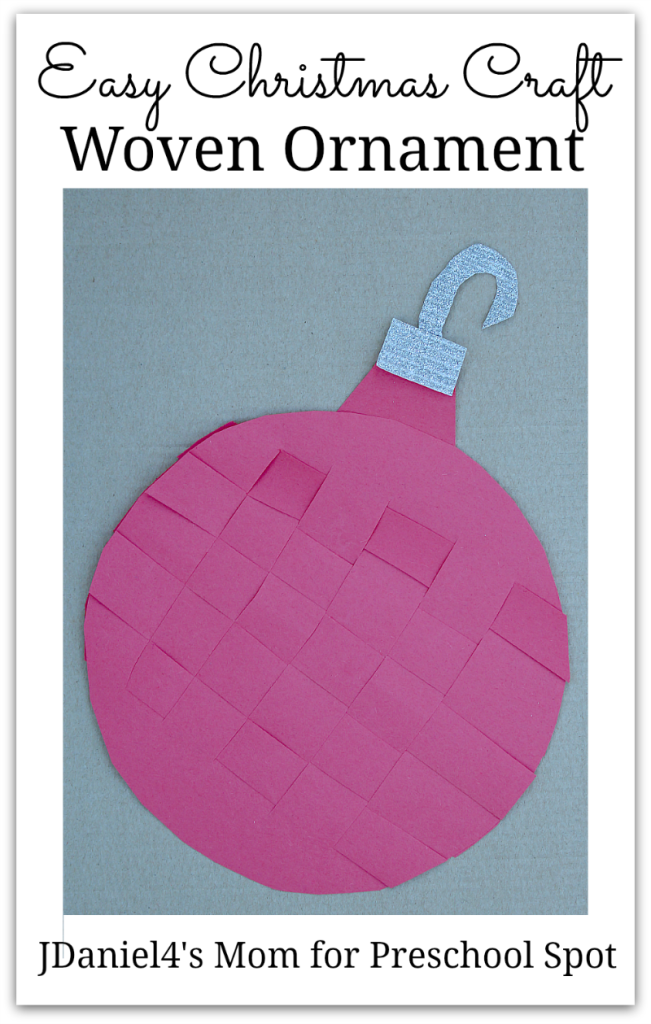 Easy Christmas Craft Woven Ornament- This is a great fine motor craft. Kids can weave this Christmas ball and attach a hook to hang on the wall or attach to a card.