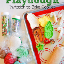 Christmas Playdough Invitation to Bake Cookies