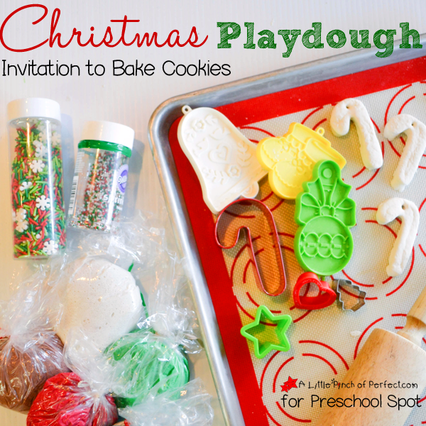 Christmas Playdough Invitation to Bake Cookies_A Little Pinch of Perfect for Preschool Spot square copy