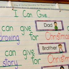 I Can Give Predictable Chart – A Christmas Literacy Activity