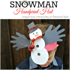 Snowman Jingle Bell Headband by Crayon Box Chronicles at Preschool Spot