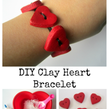 DIY Clay Heart Bracelet