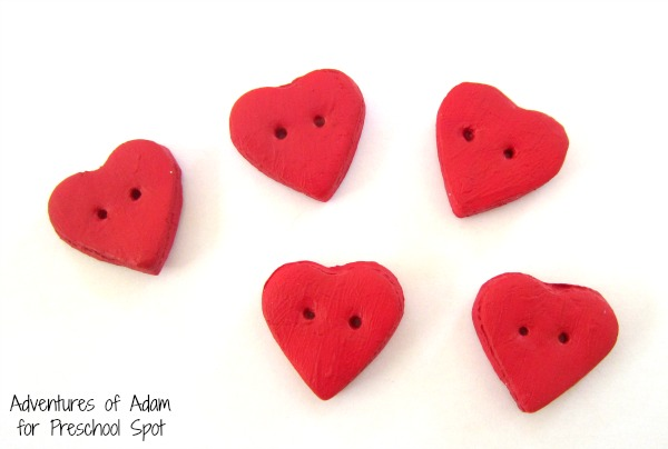 Painted homemade clay hearts