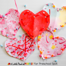 Valentine's Laced Hearts: Fine Motor Skills Craft for Kids